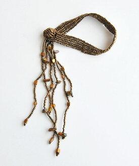 UTZ JEWELLERY有孔玻璃珠手鐲FLECOS青銅