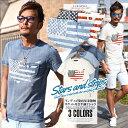 Tシャツ メンズ 半袖 インディゴ ポケット 星条旗柄 星柄 アメリカ 国旗 BITTER ビター系 夏【インディゴ染め星条旗柄…