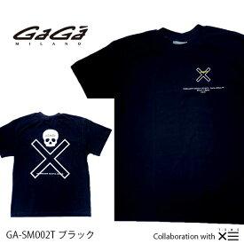 【国内正規品】GaGa MILANO ガガミラノ ザ セイントマフィア クラブ コラボ THESAINT MAFIA CLUB Men's Ladies メンズ レディース Tシャツ GA-SM002T ブラック BLACK 黒