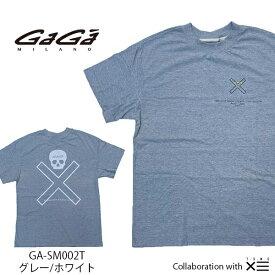 【国内正規品】GaGa MILANO ガガミラノ ザ セイントマフィア クラブ コラボ THESAINT MAFIA CLUB Men's Ladies メンズ レディース Tシャツ GA-SM002T グレー/ホワイト GRAY/WHITE 灰 白