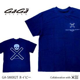 【国内正規品】GaGa MILANO ガガミラノ ザ セイントマフィア クラブ コラボ THESAINT MAFIA CLUB Men's Ladies メンズ レディース Tシャツ GA-SM002T ネイビー NAVY 紺