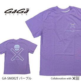 【国内正規品】GaGa MILANO ガガミラノ ザ セイントマフィア クラブ コラボ THESAINT MAFIA CLUB Men's Ladies メンズ レディース Tシャツ GA-SM002T パープル PURPLE 紫
