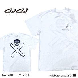【国内正規品】GaGa MILANO ガガミラノ ザ セイントマフィア クラブ コラボ THESAINT MAFIA CLUB Men's Ladies メンズ レディース Tシャツ GA-SM002T ホワイト WHITE 白