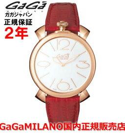 【国内正規品】GaGa MILANO ガガミラノ 腕時計 ウォッチ メンズ レディース MANUALE THIN 46MM マニュアーレシン46mm 5091.01RD SWISS MADE/スイスメイド
