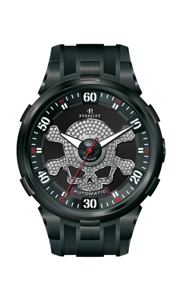 【国内正規品】 【スカル】PERRELET/ペルレ 自動巻 腕時計 SPECIAL EDITION Turbine TOXIC A4023/1