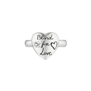 【国内正規品】GUCCI グッチ Blind For Love RING ブラインドフォーラブ リング シルバー ハート 指輪 YBC499937001