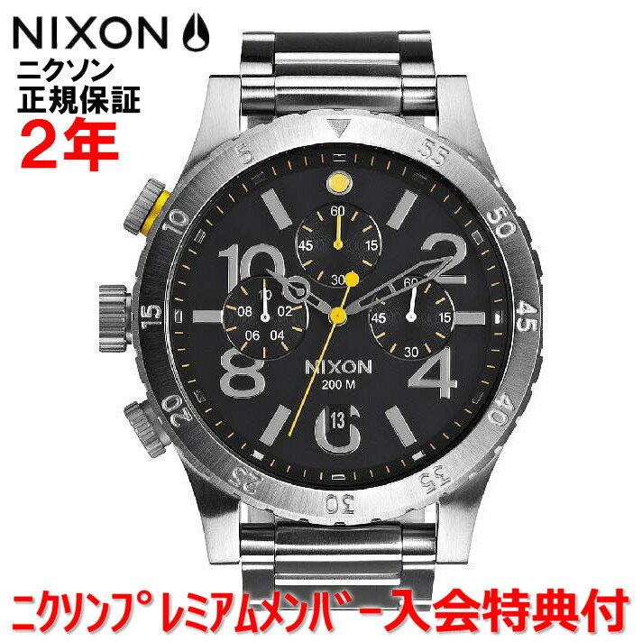 【楽天ランキング2位獲得!!】レビュー記入でNIXONノベルティープレゼント!!【国内正規品】NIXON ニクソン 腕時計 メンズ 48-20 Chrono/クロノ 48mm NA486000-00