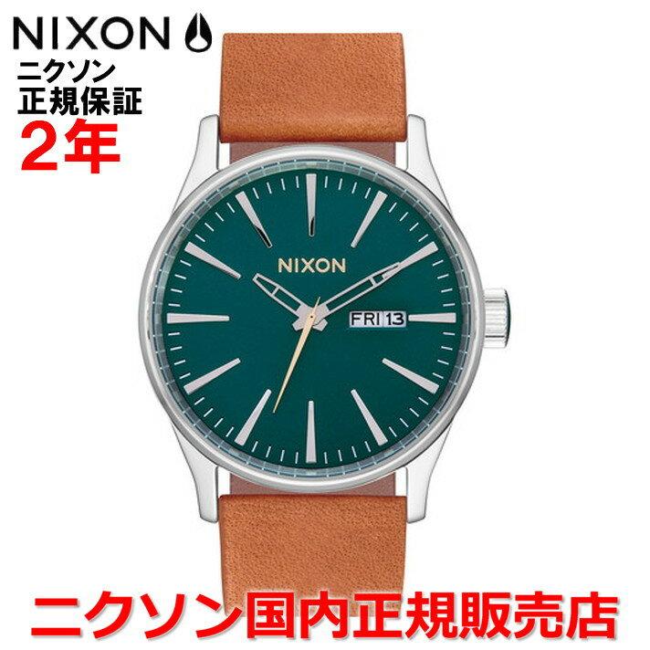 【国内正規品】NIXON ニクソン 腕時計 メンズ レディース Sentry Leather セントリーレザー42mm NA1052535-00