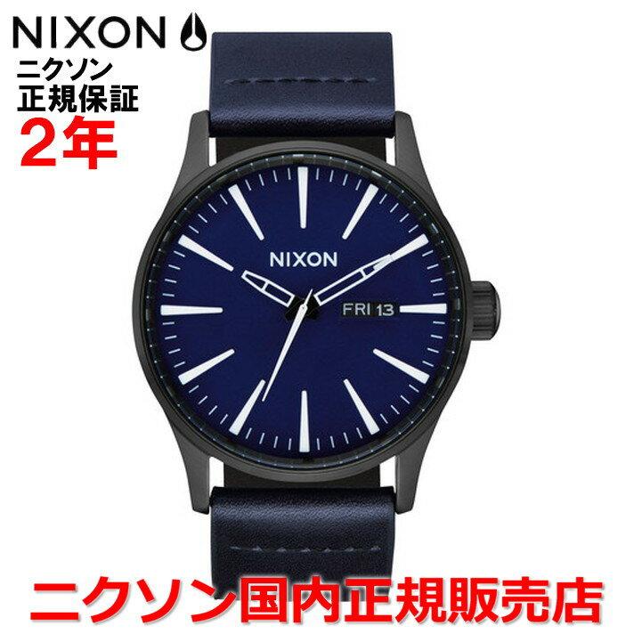 【国内正規品】NIXON ニクソン 腕時計 メンズ レディース Sentry Leather セントリーレザー42mm NA1052668-00