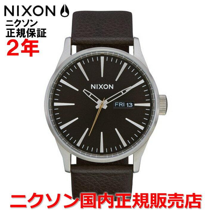 【国内正規品】NIXON ニクソン 腕時計 メンズ レディース Sentry Leather セントリーレザー42mm NA1052986-00