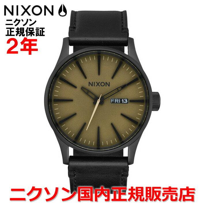 【国内正規品】NIXON ニクソン 腕時計 メンズ レディース Sentry Leather セントリーレザー42mm NA1052988-00