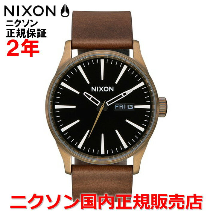 【国内正規品】NIXON ニクソン 腕時計 メンズ レディース Sentry Leather セントリーレザー42mm NA1053053-00