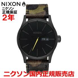 【国内正規品】NIXON ニクソン 腕時計 メンズ レディース Sentry Leather セントリーレザー42mm NA1053054-00