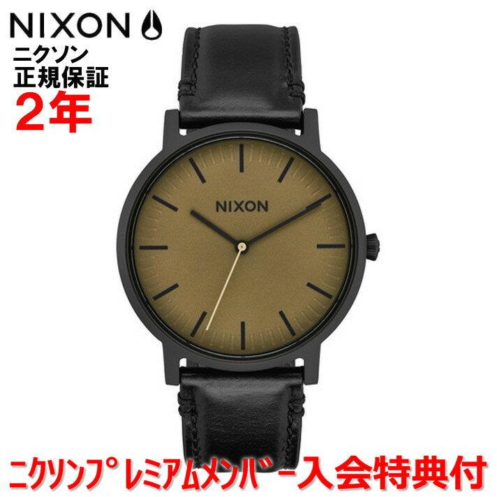 【国内正規品】NIXON ニクソン メンズ レディース 腕時計Porter Leather ポーターレザー40mm NA10582988-00