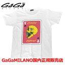 【国内正規品】【売れ筋】GaGa MILANO/ガガミラノ Men's Ladies/メンズ レディース スカルTシャツ GA-0102T ホワイト×ピンク ga-0102t-wht-pnk WHIT