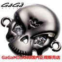 【国内正規品】GaGa MILANO ガガミラノ Men's Ladies/メンズ レディース HBブレス/紐ブレスレット SKULL4/スカル4モデル BLK