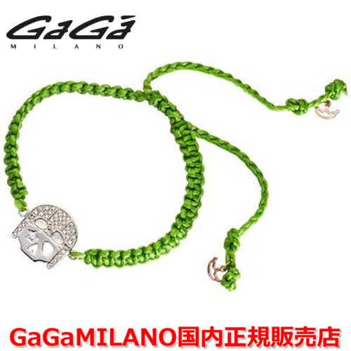 【国内正規品】GaGa MILANO ガガミラノ Men's Ladies/メンズ レディース HBブレス/紐ブレスレット HB-SKULL2 (WG)/スカル
