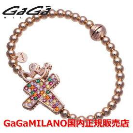 【国内正規品】GaGa MILANO ガガミラノ Men's Ladies/メンズ レディース GB Bracelet/GBブレス GB-CROSS1-PG-MLT/クロス マルチカラー