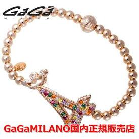 """【国内正規品】GaGa MILANO ガガミラノ Men's Ladies/メンズ レディース GB Bracelet/GBブレス GB-04-PG-MLT 番号""""4"""""""