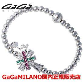 【国内正規品】GaGa MILANO ガガミラノ Men's Ladies/メンズ レディース GB Bracelet/GBブレス GB-CROSS2-WG-MLT/クロス マルチカラー