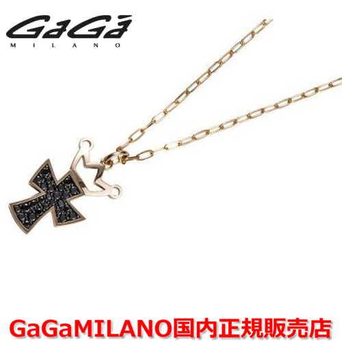 【国内正規品】GaGa MILANO/ガガミラノ Men's/メンズ Ladies/レディース K18 CROSS NECKLACE/クロスネックレス(L) クロス/ブラックダイヤモンド(L)