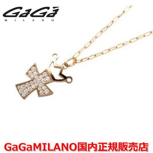 【国内正規品】GaGa MILANO/ガガミラノ Men's/メンズ Ladies/レディース K18 CROSS NECKLACE/クロスネックレス(L) クロス/ダイヤモンド(L)