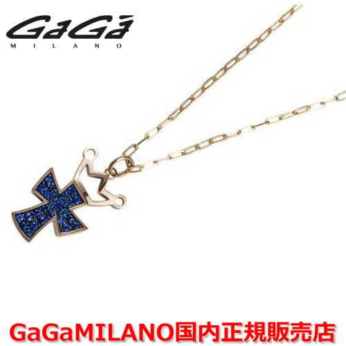 【楽天ランキング1位獲得!!】【国内正規品】GaGa MILANO/ガガミラノ Men's/メンズ Ladies/レディース K18 CROSS NECKLACE/クロスネックレス(L) クロス/サファイヤ(L)