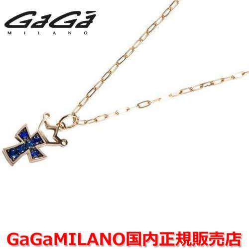 【国内正規品】GaGa MILANO/ガガミラノ Men's/メンズ Ladies/レディース K18 CROSS NECKLACE/クロスネックレス(M) クロス/サファイヤ(M)