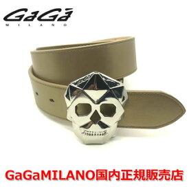 【国内正規品】GaGa MILANO ガガミラノ Men's Ladies/メンズ レディース スカル バックル ベルト GOLD ゴールド/金 40mm