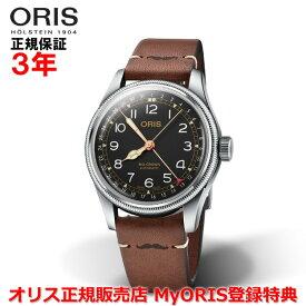 【国内正規品】 ORIS オリス ビッグクラウンモベンバー エディション 40mm Big Crown Pointer Date メンズ 腕時計 ウォッチ 自動巻き 革ベルト ブラック文字盤 黒 01 754 7741 4037-Set LS