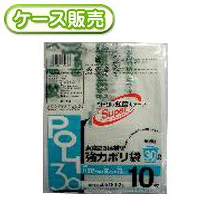[ケース販売]80冊入り TK-310 強力ポリ袋 半透明 30L 10枚 (印刷あり)