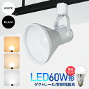 ダクトレール用スポットライト器具とLED電球のお得なセット販売【LED電球付き】60W形相当 E26 電球色 自然色 昼白色 …