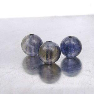 アイオライト 6mm丸玉 天然石 パワーストーン ビーズ 菫青石 アイオライト ブレスレット用 手作り用 アクセサリー 6mm玉 1粒売り