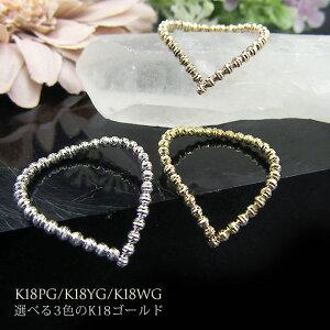 K18YG(イエローゴールド)K18WG(ホワイトゴールド)K18PG(ピンクゴールド) リング 指輪 フリーサイズ 18K 18金 gold シンプル ピンキーリング オーダー Ladies 送料無料 受注生産品 形状記憶