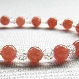 インカローズ ブレスレット 天然石 パワーストーン ブレス レディース ブレス ロードクロサイト 水晶