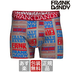 FRANK DANDY 【2枚で送料無料】 Hip Hop Boxer レッド hade ブランド 正規品 下着 パンツ インナーボクサーパンツ 誕生日 プレゼント ギフト ラッピング 無料 彼氏 父 男性 旦那 大人