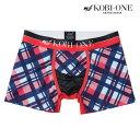 【4/23まで送料無料】 KOBI ONE コビワン/Plaid ボクサーパンツ メンズ【正規品】【ローライズ】【楽ギフ_包装選択】…