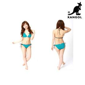 送料無料 ビキニ 3点セット レディース 体型カバー KANGOL カンゴール ドロップビキニ チューブトップ付き 3ピース 女性 水着 ブランド 正規品 母の日