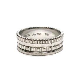 BOUCHERON ブシュロン キャトル ラディアント リング スモール 指輪 750WG ホワイトゴールド T61 約20号 JRG02683 中古品 本物 送料込み 送料無料!!