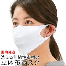 洗える伸縮性素材の立体布マスク(フィルターポケット付き) [mdh008] マスク 布マスク 水着素材