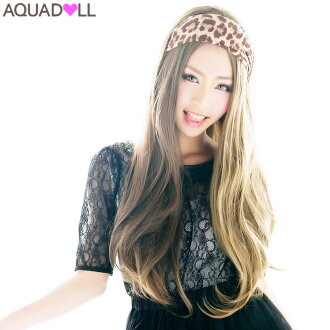 ★ Limited sale ★ フルウィッグ long extension with a net ★ two-tone straight long heat resistant wigs wig extensions WIG shipping wedding sale SALE AQUADOLL アクアドール