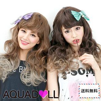 Wigs Extensions AQUADOLL | Positive impact gradient color medium wig [wg102]