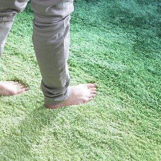 [全品クーポンで4%OFF6/2318:00-6/260:59]ラグ床暖房ホットカーペット対応ラグマットグラデーションラググレー灰色ブルー青グリーン緑ブラウン茶色おしゃれシャギーラグセンターラグ絨毯ダイニングラグ長方形200×2503畳厚手