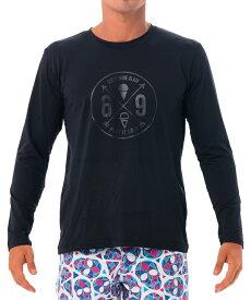 【20SS 新作】【69SLAM】水陸両用 ロックスラム メンズ ラッシュ 69 CROSS 長袖Tシャツ UVカット / MTVOSS-BK【メール便選択で送料無料】【ハロウィン ギフト】