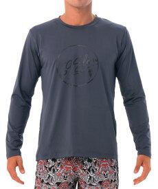 【20SS 新作】【69SLAM】水陸両用 ロックスラム メンズ ラッシュ 69 BUBBLE 長袖Tシャツ UVカット / MTVUBE-GY【メール便選択で送料無料】【ハロウィン ギフト】