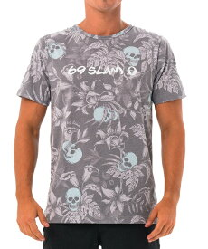 【20SS 新作】【69SLAM】水陸両用 ロックスラム メンズ ラッシュ WILD GARDEN BLUE Tシャツ / MTXWGN-BL【メール便選択で送料無料】【ハロウィン ギフト】