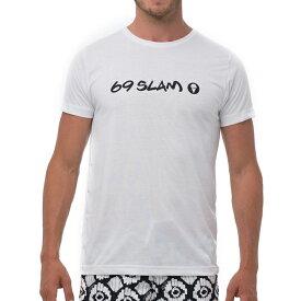 【69SLAM】水陸両用 ロックスラム メンズ ラッシュ ロゴ Tシャツ / MTYWH-PC【メール便送料無料】【ハロウィン ギフト】