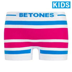 【KIDS】【BETONES】AKER・BLUE×PINK / アケル ビトーンズ キッズ ボクサー パンツ【メール便選択で送料無料】【取り寄せ】