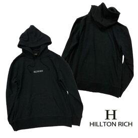 【HILLTON RICH】ヒルトンリッチ メンズ シンプル ロゴ パーカー♪ HRT-018【XS/S/M/L】【メール便不可】【クリスマス ギフト】