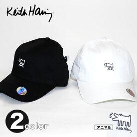 ベルトでサイズ調節可能!Keith Haring(キース・ヘリング) 刺繍 キャップ★【TD】【CAP/帽子】【宅配便のみ】